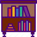 bookcase, education, learn, school, teacher icon