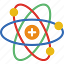 atom, college, education, learn, school icon