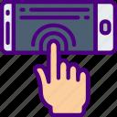 college, education, feedback, haptic, learn, school icon