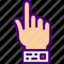 college, education, hand, learn, raised, school icon