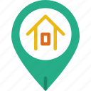 app, essential, home, interaction, location, mail icon