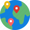 app, essential, interaction, location, mail, world icon
