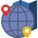app, essential, globe, interaction, location, mail icon