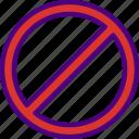 app, essential, forbidden, interaction, mail icon