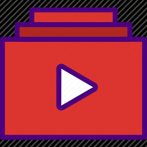 album, app, essential, interaction, mail, video icon
