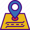 app, essential, interaction, location, mail, road icon