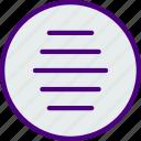 app, essential, file, hamburger, interaction, menu icon