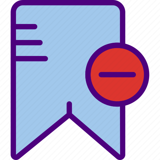 app, bookmark, essential, file, interaction, substract icon