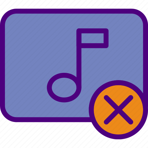 app, delete, essential, file, interaction, song icon