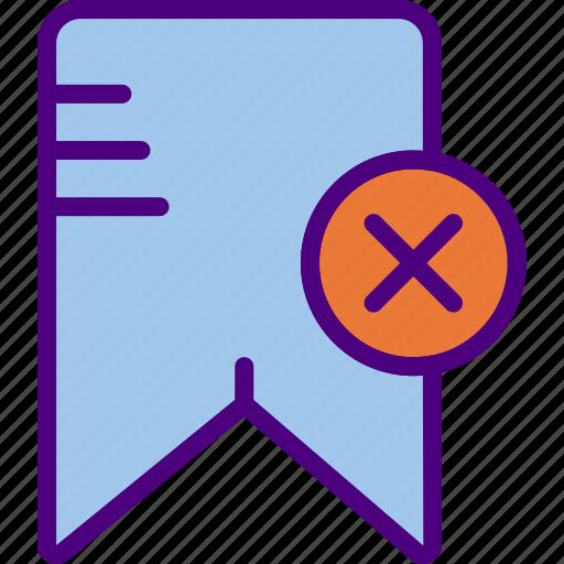 app, bookmark, delete, essential, file, interaction icon