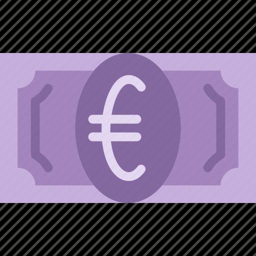 bank, bill, business, euro, finance, money icon