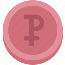 bank, business, coin, finance, money, rouble icon