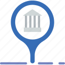 bank, business, finance, location, money icon