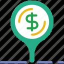 bank, business, finance, location, money icon