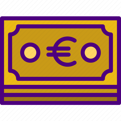 bank, business, euro, finance, money icon