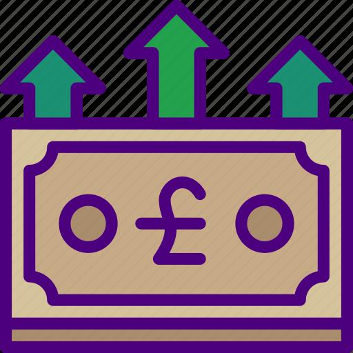 bank, business, finance, increase, money icon