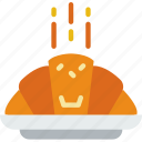 croissant, eat, food, kitchen, restaurant