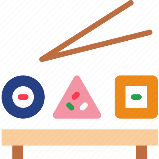 eat, food, kitchen, restaurant, sushi icon