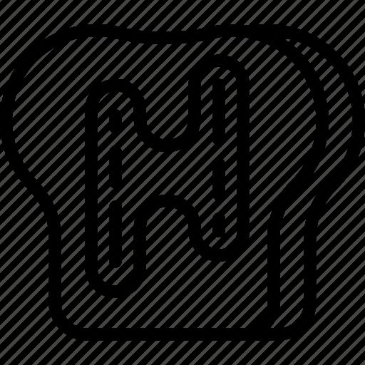 Eat, food, kitchen, restaurant, toast icon - Download on Iconfinder