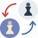 competition, games, pawn, play, swap, video icon