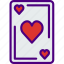 competition, games, hearts, play, video icon