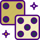 competition, dices, games, play, video icon
