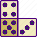 competition, dominoes, games, play, video icon