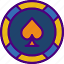casino, chip, competition, games, play, video icon