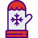 christmas, easter, halloween, holidays, mitten icon