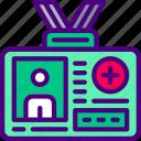 badge, doctor, hospital, medic, medical, medicine icon