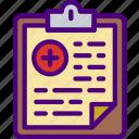 doctor, file, hospital, medic, medical, medicine icon