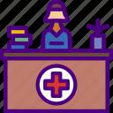 doctor, hospital, medic, medicine, reception