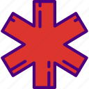 ambulance, doctor, hospital, medic, medicine, sign icon