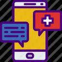 conversation, doctor, hospital, medic, medical, medicine icon