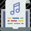 album, multimedia, music, musical, script, video