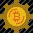 bitcoin, gadget, phone, settings, technology, web icon