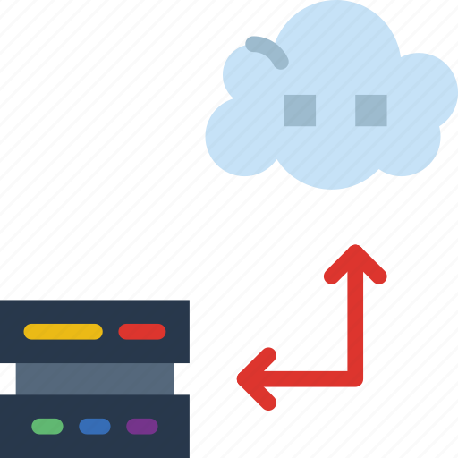 cloud, gadget, phone, technology, transfer, web icon