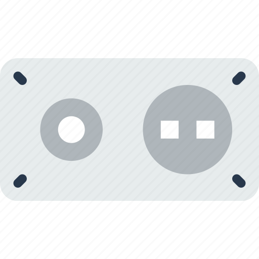 gadget, phone, socket, technology, wall, web icon