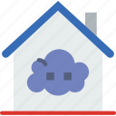 cloud, gadget, house, phone, technology, web icon
