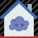 cloud, gadget, house, phone, technology, web