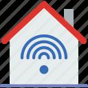 gadget, house, phone, smart, technology, web icon