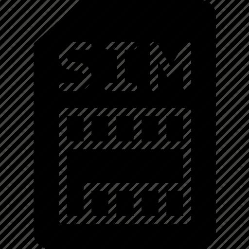 card, gadget, phone, sim, technology, web icon