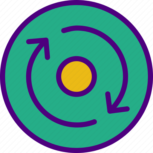 computer, information, innovation, sync, technology icon