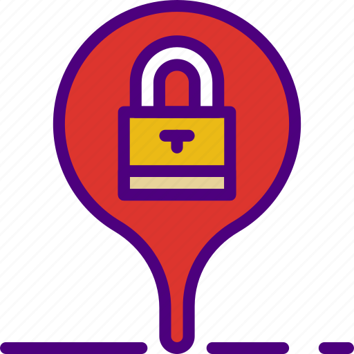 computer, information, innovation, location, secure, technology icon