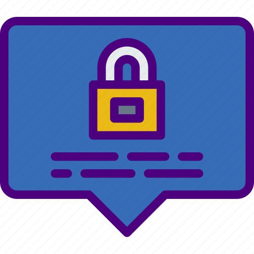 computer, information, innovation, message, secure, technology icon