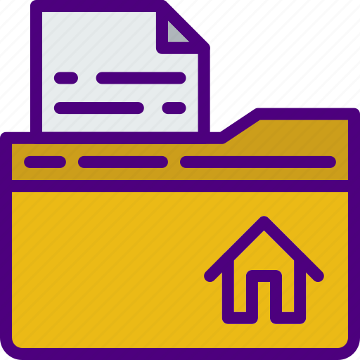 computer, folder, home, information, innovation, technology icon