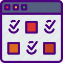 checklist, computer, information, innovation, technology icon