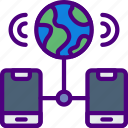computer, information, innovation, mobile, network, technology icon