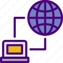 computer, information, innovation, link, network, technology icon