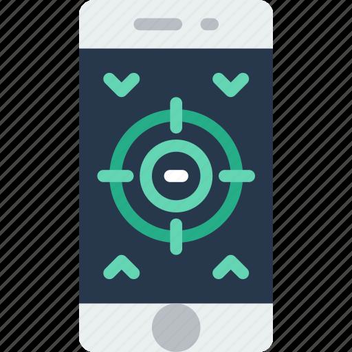 app, game, interface, mobile, shooting, web icon